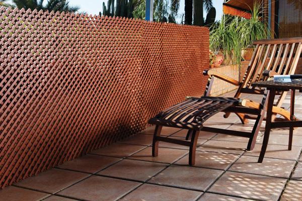 Cerramientos resistentes flexibles ligeros y ecol gicos - Celosia de madera para jardin ...