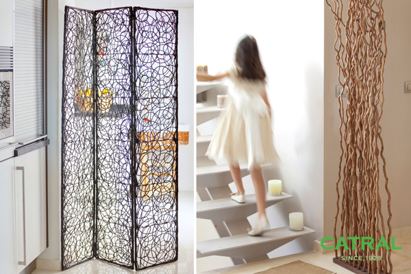 C mo decorar con ra ces y varas para separar espacios en for Decoracion biombos separadores