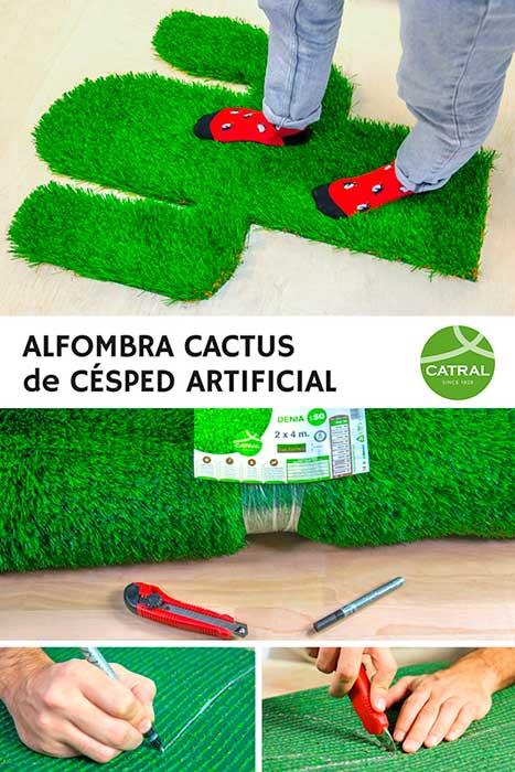 Ideas para hacer una alfombra de c sped artificial muy for Alfombra cesped artificial