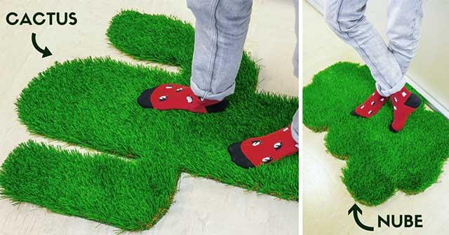 Ideas para hacer una alfombra de c sped artificial muy original catral garden - Alfombra cesped artificial ...