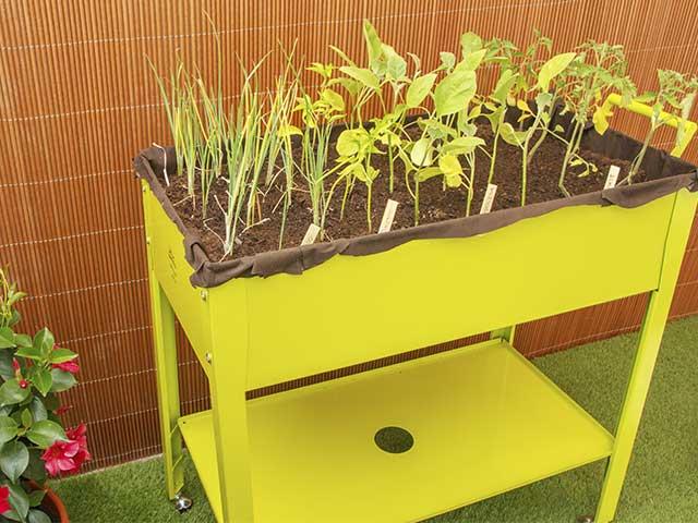 huerto urbano metalico metal grow trolley