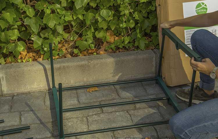 montaje estantes invernadero greenhouse catral