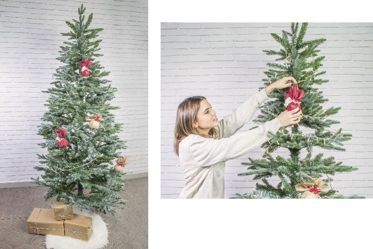 arbol navidad decoracion efecto rustico