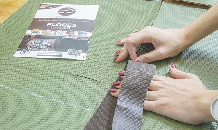 union piezas alfombra patchwork catral