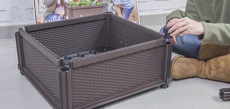 huerto urbano modular montaje laterales