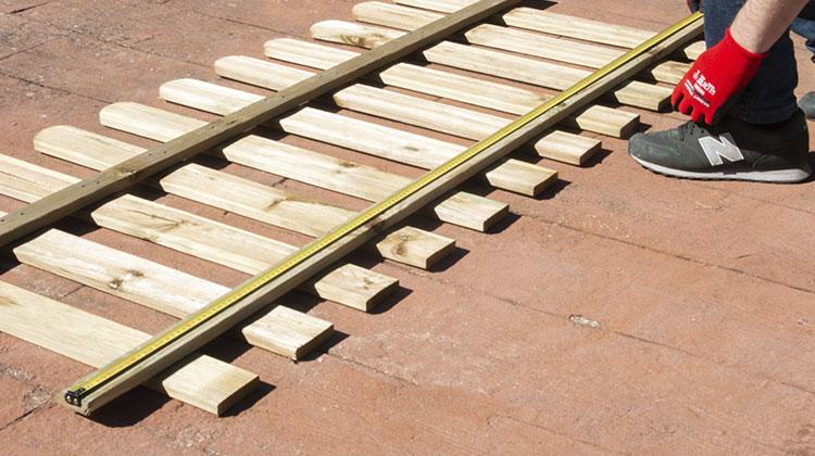 medir valla madera