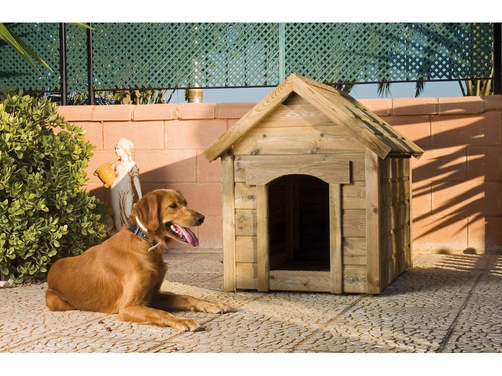 Casetas de madera para el perro for Casetas para almacenaje exterior