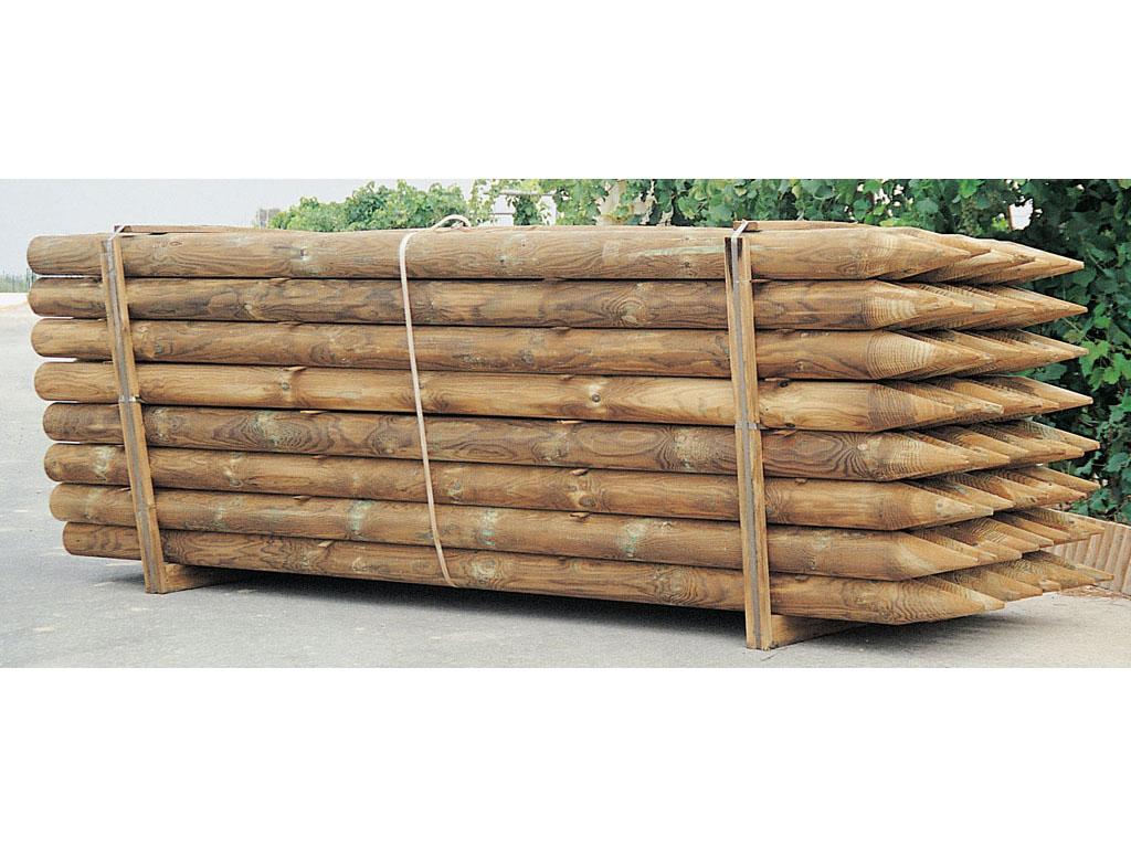 Pin pergola de postes madera impreg ca as y chapa - Postes de madera para pergolas ...