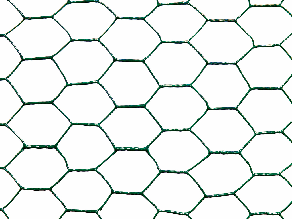 Malla Metálica Hexagonal Plastificada