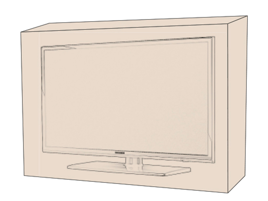 Furniture cover for a Flat-screen Tv