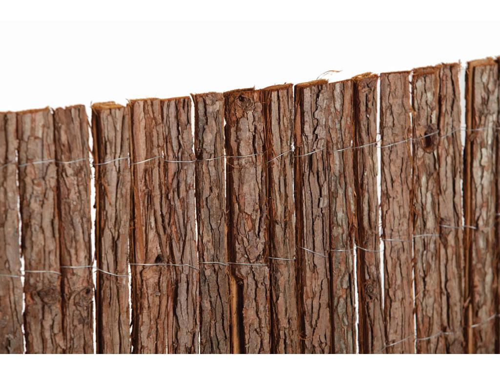 Cerramientos de corteza de pino para jard n catral - Cerramientos de madera para jardin ...