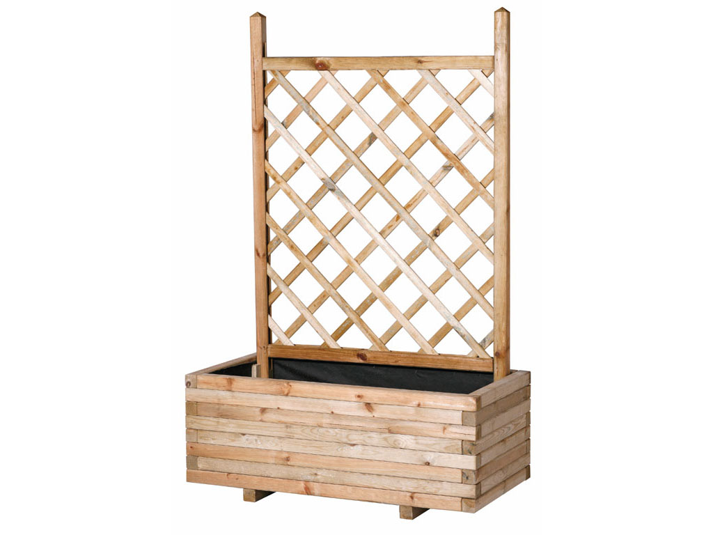 Jardineras de madera para jard n for Celosias para jardin