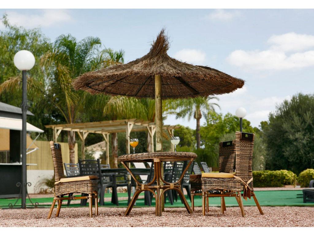 Parasoles de madera para jard n y piscina for Parasoles jardin