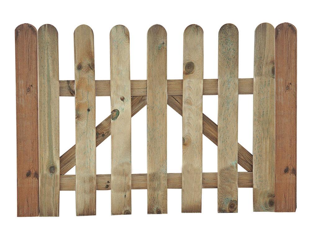 Vallas de madera para jard n - Puerta de madera para jardin ...
