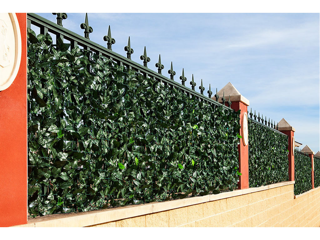 Seto artificial para jardines con tallos y hojas - Setos para vallas ...