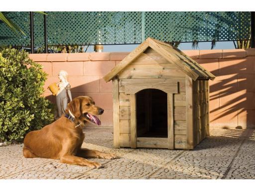 Casetas de madera para el perro - Caseta madera exterior ...