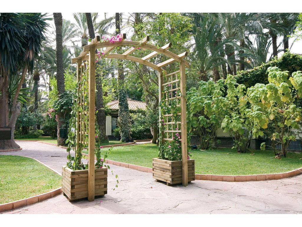 Jardineras de madera para jard n for Arcos de jardin