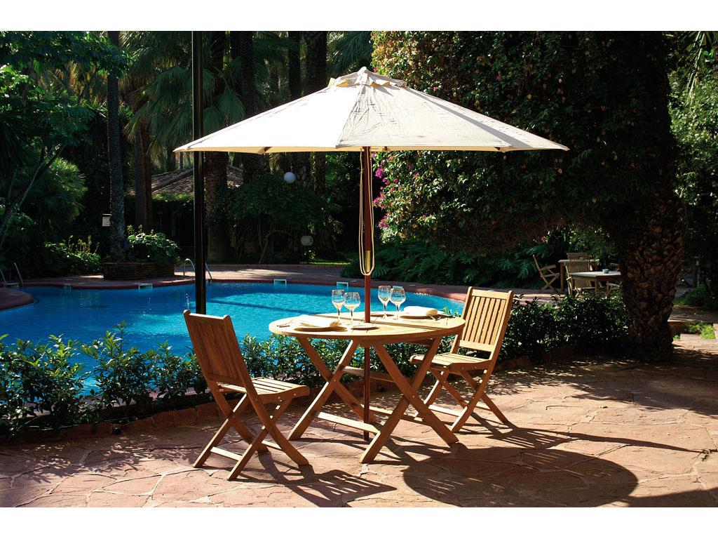 parasoles de madera para jard n y piscina